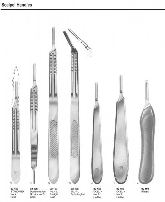 Scalples Knives & Scalples Handles